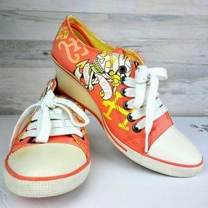 Ed Hardy Orange Wedges Womens Shoes
